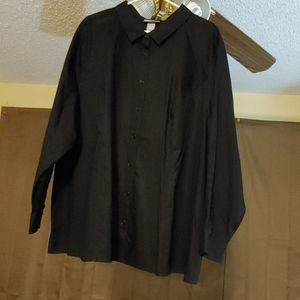 Catherine's Black Button Down Shirt Size 4X(30/32)